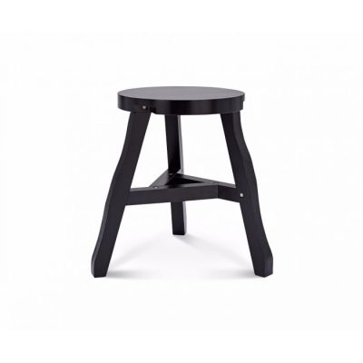 Offcut Low Stool Black