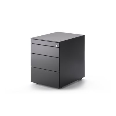 Office Cabinet, 3 Drawer Chest Graphite Grey