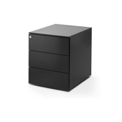 Office Cabinet, Basic, 3 Drawer Chest Graphite Grey