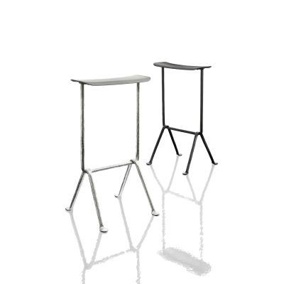 Officina Upholstered Bar Stool Painted Black, L-0060, 65cm