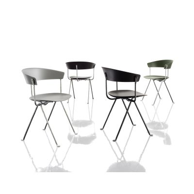 Officina Upholstered Chair Grey Anthracite, Divina MD 193, Polypropylene, covered in fabric