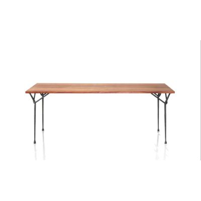 Officina Dining Table 4 Legs - Rectangle Galvanized Frame, Painted Black Top, 290x95cm