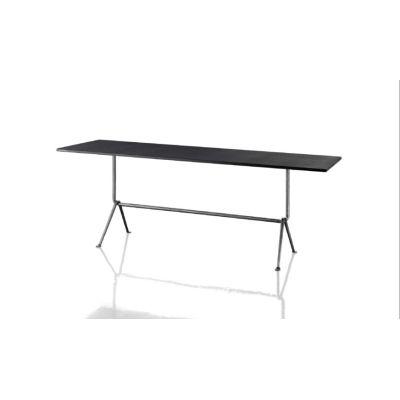 Officina Fratino Dining Table Carrara Marble White, Black, 200cm