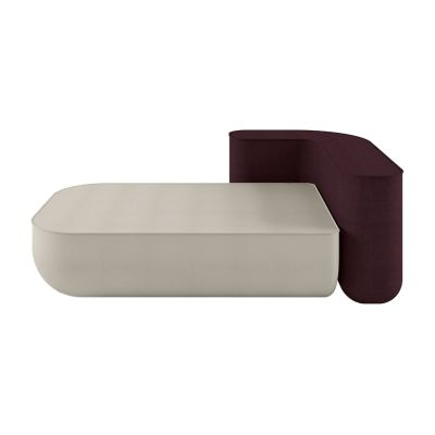 Okome 25F Sofa Leather Pelle Frau Color System - B004, Left Element