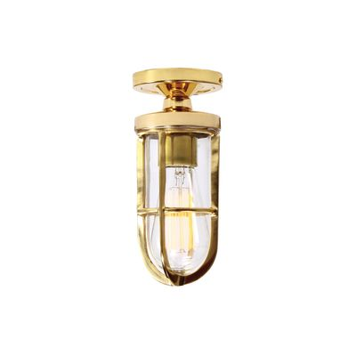 Oregon A Ceiling Light Satin Brass, Frosted Glass