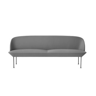 Oslo Sofa - 3 Seater Skai Parotega NF white, Dark Grey