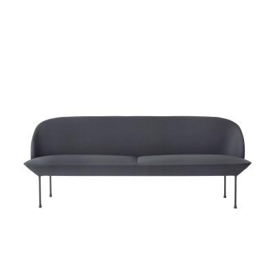 Oslo Sofa - 3 Seater Vidar 3 0472, Dark Grey