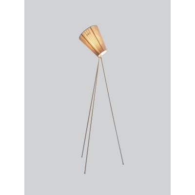 Oslo Wood Floor Lamp Beige, Metallic