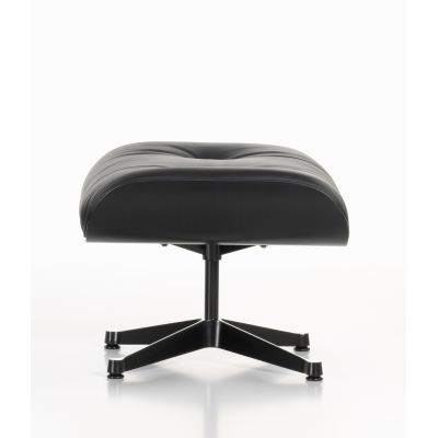 Eames Ottoman Nero Leather Premium nero, 05 felt glides for hard floor