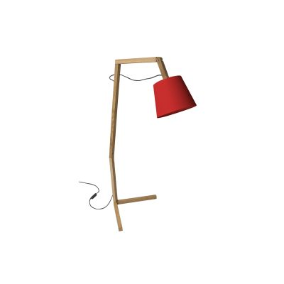 Oud L Floor Lamp Red