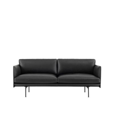 Outline Sofa - 2 Seater Vidar 3 0123, Black