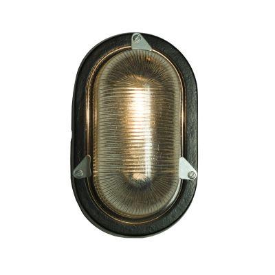 Oval Aluminium Bulkhead 7001 Black, G24d