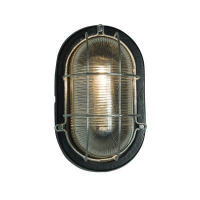 Oval Aluminium Bulkhead 7003 Black, G24d
