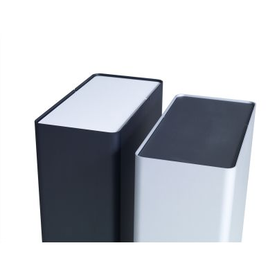 P-drei Container Anodized Silver, Small