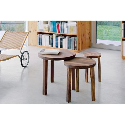 PA03 Alex Stackable Side Table - Set of 3 Oiled Walnut
