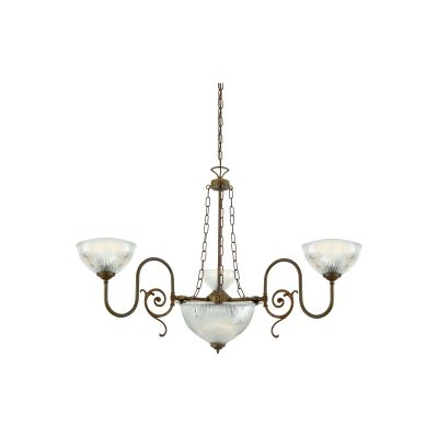 Padang Chandelier Polished Brass