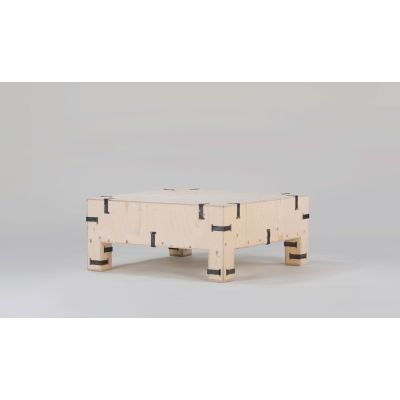 Pakiet Coffee Table Birch Plywood, Galvanized Steel Clips