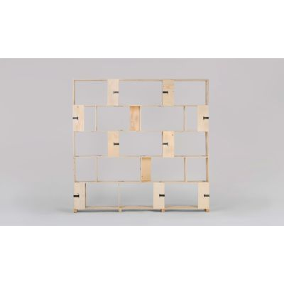Pakiet Shelve Set - L Birch Plywood, Galvanized Steel Clips