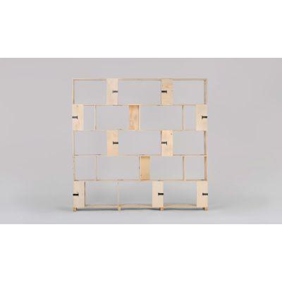 Pakiet Shelve Set - L Birch Plywood, Galvanized Steel Clips