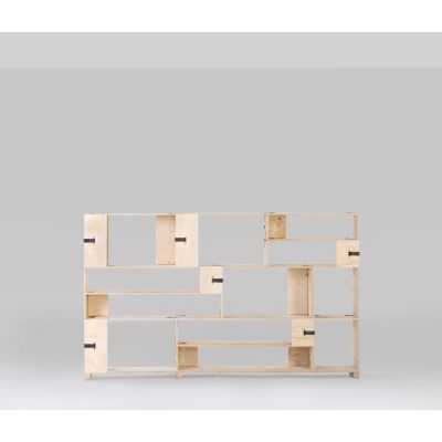 Pakiet Shelve Set - M Birch Plywood, Galvanized Steel Clips