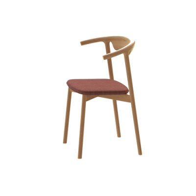 Pala Dining Chair Natural Oak, Lana 007 Canary