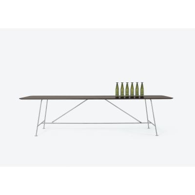 Pan Rectangular Table OP Matt Lacquer-48 Anthracite, RO 157 Walnut-Stained Oak, Small