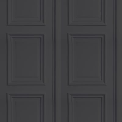 Panelling Wallpaper Anthracite Panelling Sample