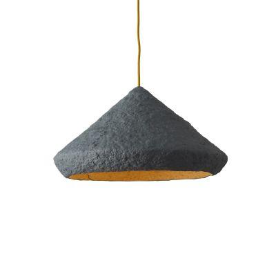 Paper pulp pendant lamp Mizuko Grey Mizuko Grey