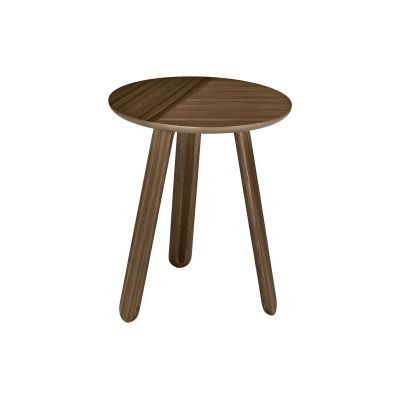 Paper Side Table Gubi Wood American Walnut, Ø42