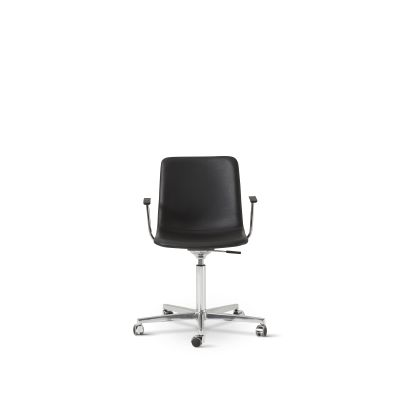 Pato Executive Office Armchair Chrome Steel, Leather 70 Beige