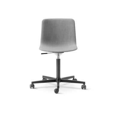 Pato Office Chair Fully Upholstered Black Painted Steel, Nubuck 501 Light sand