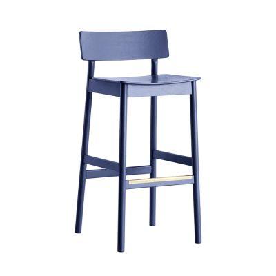 Pause bar stool Dark blue