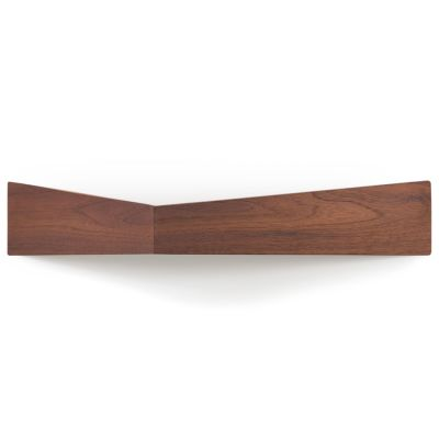 Pelican Shelf with hidden hooks Walnut, Large