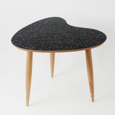 Petal Side Table Petal Table Sparkled Black
