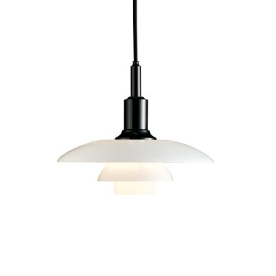 PH 3/2 Glass Pendant Black Metallised
