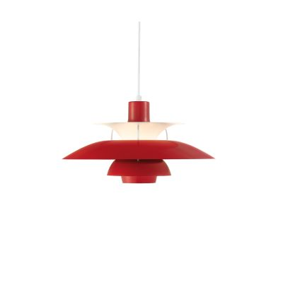 PH 50 Pendant Light Chilli Red Gloss