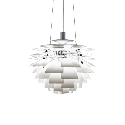 PH Artichoke Pendant Light 96W LED 3000K,Polished Stainless Steel