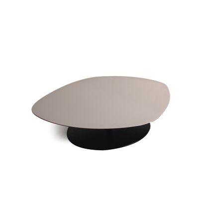 Phoenix Metal Base Table 95 x 98, White Chalk, Laminam White Ivory