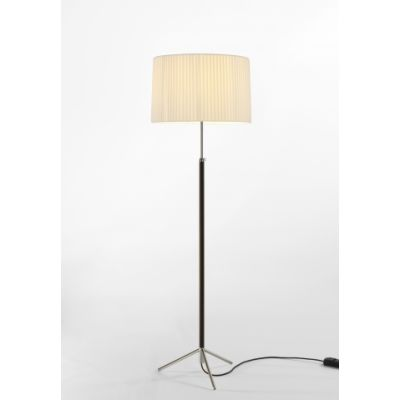 Pie de Salon G2 Floor Lamp Chrome-plated, Natural ribbon