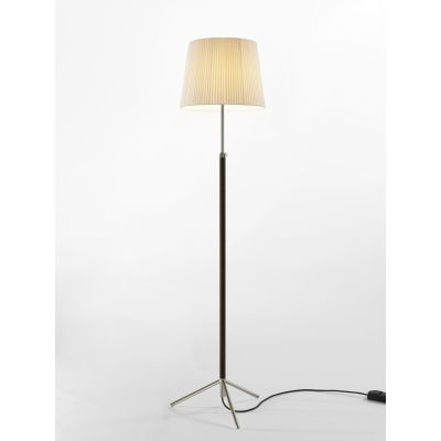 Pie de Salon G3 Floor Lamp Chrome-plated, Natural ribbon