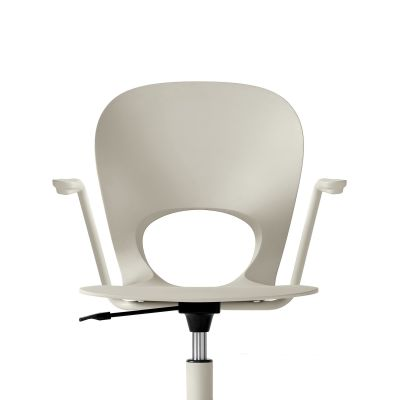 Pikaia Five Spoke with Castors and Armrests White, White