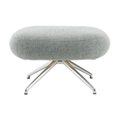 Pillo Footstool Polished Aluminium, Main Line Flax Newbury