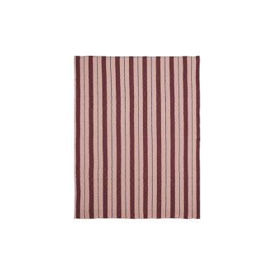 Pinstripe Blanket - Set of 2 Rose