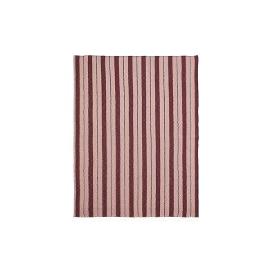Pinstripe Blanket - Set of 2 Rose