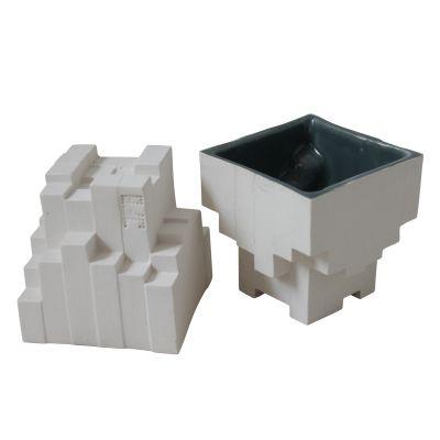 Pixel Tea Cups White