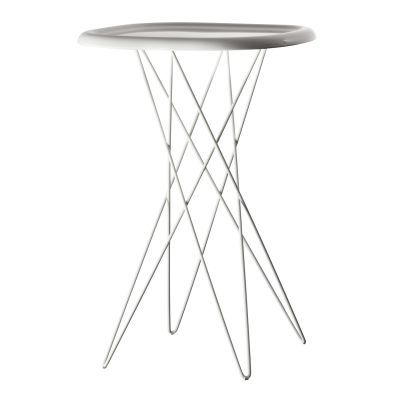 Pizza Side Table White, 70cm