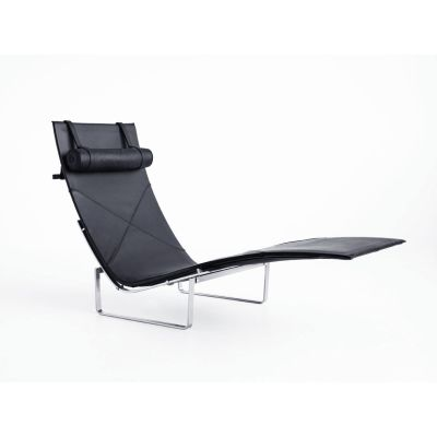 PK24™ Leather Chaise Lounge Classic Leather Black