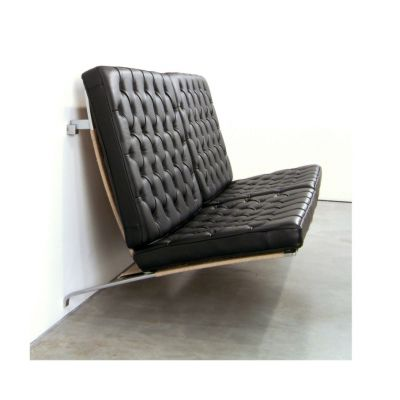 PK26™ Sofa Elegance Leather Black