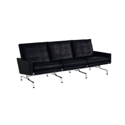 PK31™ 3-Seater Sofa Classic Leather Black