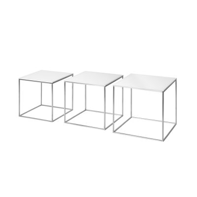 PK71™ Nesting Table - Set of 3 Acrylic White